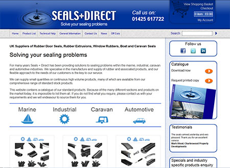 Seals Direct E-Commerce Website