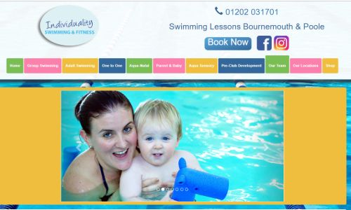 individuality swimming by radikls web design dorset