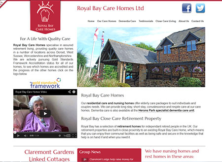 Royal Bay Website Design Dorset